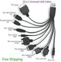 automatische linien großhandel-2017 meistverkauften 12 V Multifunktionale Auto 10in1 Multi USB Handy Ladegerät Kabel Linie Universal 20 teile / los