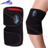 Wholesale Knee Brace Right - Wholesale- Right Elbow brace relief elbow pain adjustable elastic Strong Sports Badminton elbow support protector pad 1 piece