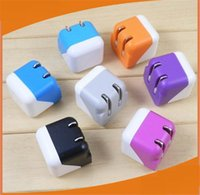 Wholesale usb dice - 100pcs lot* Cubic Dice Charger mini folding fold dice travel home usb AC wall charger power adapter For iphone 7 6 samung
