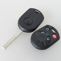 anahtar fob için ford kapağı toptan satış-Yüksek kaliteli Ford Focus 4 düğme uzaktan anahtar boş kabuk 3 parça ile FOB anahtar kapak