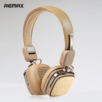 Wholesale Fold Music - REMAX Wireless Bluetooth 4.1 Headset Music Earphone Stereo Folding Handsfree Headset Noise Cancelling for iPhone Samsung