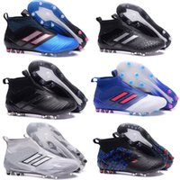 Wholesale ground body - New Ace 17 Soccer Cleats Boots Ace 17+ Purecontrol Firm Ground Cleats Champagne Camouflage Black Pink White FG CG Men Football Soccer Shoes