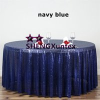 Wholesale Wholesale Wedding Tablecloth - Round Size Sequin Table Cloth \ Wedding Banquet Hotel Decoration Tablecloth
