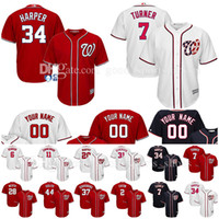 Men blue baseball jersey - Custom Washington Nationals jerseys Bryce Harper Trea Turner Scherzer Murphy Strasburg Werth Giolito Eaton Rendon Zimmerman baseball Jersey