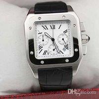 Wholesale geneva watch quartz for sale - Group buy New Luxury Quartz Chrono XL Black Leather Brand Mens chronograph Watches Sport Men geneva Watch Sapphire Quality Big Dial Fashion
