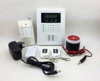 Wholesale Gsm Pstn Alarm Lcd - New Intelligent Alarm Dual Network GSM & PSTN Security Alarm System 101 zones Voice Intercom LCD Display SG-204
