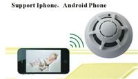 Wholesale Wireless Outdoor Infrared Detector - UFO WiFi Camera Wireless IP Camera Spy Smoke Detector Surveillance Camera Video Recorder For Smart Phone