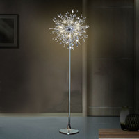 Wholesale Decorative Lamp Stand - American European classic Decorative Flower tree floor light lamp crystal stand lamp LED crystal floor lamp