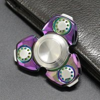 Wholesale Luxury Kids Wholesale - Luxury CKF Metal Fidget Spinner CNC Brass SUS Al Tri-spinner Ceramic Bearing EDS Anti-stress Metal Spinners Decompression Novelty Toy