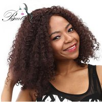 Wholesale Long Reddish Brown Hair - Synthetic Afro Kinky Curly Wigs for Black Women African American Reddish Brown Long Hair 18 inch 300g 1 Piece Only