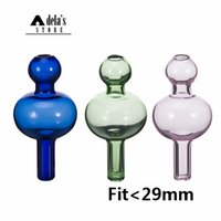 Colored Glass Bubble Carb Cap Ball Dome Cuarzo Thermal Banger Nails Dab Rig Colorido Universal Green Purple Pink Blue Clear 585