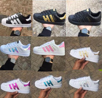 Wholesale Ivory Shoes For Women - Hot 2017 Fashion mens Casual shoes Superstar smith stan Female Flat Shoes Women Zapatillas Deportivas Mujer Lovers Sapatos Femininos for men