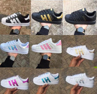 sıcak erkekler için rahat ayakkabılar toptan satış-Sıcak 2017 Moda erkek Rahat ayakkabılar Süperstar smith stan Kadın Düz Ayakkabı Kadın Zapatillas Deportivas Mujer Severler Sapatos Femininos erkekler için