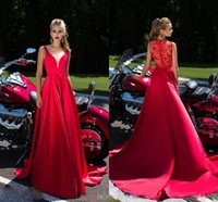 Wholesale China One Lace - 2017 VIP Price Prom Dresses China Party Queen Red 2k16 Floor Length Tulle Prom Dresses Backless Long Sleeves Party Gowns Custom Made