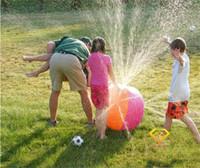 ingrosso acqua spray estiva-2017 Estate Gonfiabile Acquazzone aerostatico All'aperto Giocare in acqua Beach ball Palla giocattolo per bambini C1992
