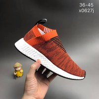Wholesale Womens Shoe Denim Blue - NMD CS2 Primeknit Red Glitch Running Shoes Mens Womens NMD City Sock 2 Red Glitch sale high quality Size 36-45[With Box]