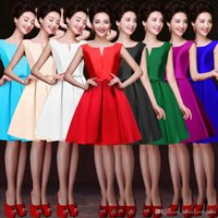 Wholesale Women S Size 16 Dress - Short Cocktail Party Dresses for Women 2017 Hepburn Style 1950's Vintage Bateau Neck Sleeveless Solid Plus Size Party Dresses