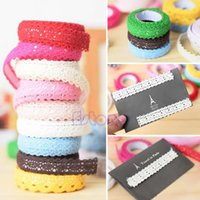 Wholesale Double Sided Cotton Adhesive Tape - Wholesale- Lace Pure Cotton Tape Double-sided Adhesive Deco Craft DIY Scrapbook Card Making