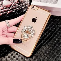 Wholesale iphone 6s crystal metal - For iPhone Case Ring Holder Cases Bling Diamond Hellokitty Perfume Kickstand Cases Crystal TPU Cover for Iphone s plus