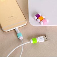 Wholesale Mobile Phone Charger Wire - USB Lightning Data Charger Cable Silicone Saver Protector Headset Protection Earphone Wire Cord Protective For mobile phone
