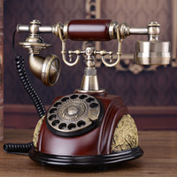 Wholesale Vintage Rotary Dial Telephones - Vintage European Antique Telephone Set Chinese Classical Rotary Dial Telephone Resin Classical Telephone Set