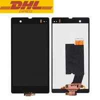 Wholesale l36h lcd - 5.0inch Black Screen For Sony Z LCD Digitizer Touch Screen Display Assembly L36h L36i C6606 C6603 C6602 Cellphone Repair Parts In Stock