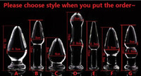 Wholesale new product anal resale online - 2018 New Crystal Glass Dildos Vagina Plug Butt Plug Unisex Anus Enlarger Dilator Masturbation Product Adult Bondage BDSM Sex Anal Toy Styl