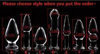 bdsm consolador al por mayor-2018 Nueva Crystal Glass Dildos Plug Vagina Butt Plug Unisex Anus Ampliable Dilator Masturbation Producto Bondage Adulto BDSM Sex Anal Toy 7 Styl