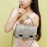 Wholesale Cross Shoulder Bags For Girls - Luxury Famous Brand Messenger Bags For Women 2017 Fashion Leather Cylindrical Shape Solid Color Mini Small Chain Shoulder Bag Girls Totes