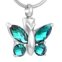Wholesale girls big gold pendant online - Butterfly Big Cubic Imitation Rhinestone Cremation Jewelry for Ashes Pendant Cremation Jewelry Pendants Women Girls Fashion Jewelry