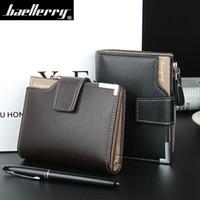 Wholesale Wholesale Luxury Purses - Wholesale- Luxury Brand Men Short Wallets Leather Male Zipper Purses Bag Man Card Coin Purses Holders Fashion Wallet for Mens Wallet Purse