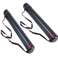 Wholesale Back Quivers - 2pcs Adjustable Arrow Quiver Shoulder Tube 12-24 PCS Arrow Archery Case Back Quiver