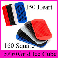 Wholesale Silicone Ice Cube Trays Wholesale - Ice Maker Mold 160 Grid Ice Cube Diamond Square Shape 150 Grid Lover Heart shape Silicone Mini Ice Cube Tray Mold Ice Chocolate Baking Mold
