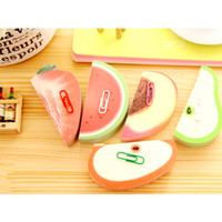 Wholesale Novelty Fruit Vegetables - Novelty Vegetable Memo Pad Sticky Note Fruit Post Notes Different Styles Paper Notepad note office post-it note sticker