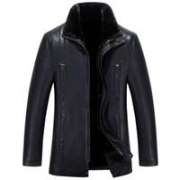 шубы из фарфора оптовых-Мужские куртки из искусственного меха зима теплые пальто толстые вершины пальто снег верхней одежды фарфора фабрики одежды большего размера 4XL 5XL коричневый горячий