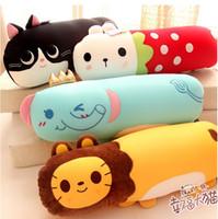 Wholesale Staff Animal - Wholesale-1pc Plush Animals Long Pillow with Foam Particle Staffed Elephant Hippo Rabbit Panda Monkey Plush Toy Nice Gift