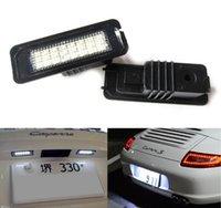 iluminação porsche venda por atacado-24SMD canbus LEVOU Luz Da Placa De Licença Kit Para Porsche Boxster Cayman Carrera Cayenne 987/997/958 Nenhum Erro