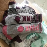 Wholesale Tennis Wholesalers - Love vs Pink Socks Fashion Women Sports Sock Victoria Knee High Socks Sports socks secrets sock DHL shipping