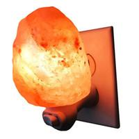cristais naturais uk venda por atacado-Natural Himalaia Salt Night Light Purificador de Ar Decorativo Lâmpada de Parede Luz Do Cilindro Do Berçário Lâmpada de Cristal Natural EUA / UE / AU / UK Plug