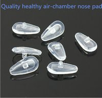 glasses nose pads achat en gros de-50pcs 15mm haute qualité des plaquettes de nez en silicone Air Chamber pour lunettes anti-slip et Super-soft pad lunettes accessoires livraison gratuite