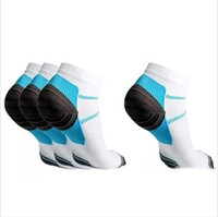 Wholesale Blue Compression - Men Sports Socks Veins Compression Socks The Spurs For Plantar Fasiitis Hosiery Arch Pain Thermoskin FXT Plantar Fasciitis Anklet Hot A2401