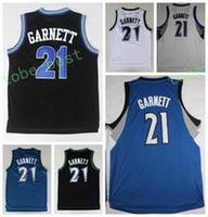Wholesale Vintage Shirts Xxl - Newest 21 Kevin Garnett Shirt Uniform Throwback Kevin Garnett Jersey Men Rev 30 New Material For Sport Fans Vintage Pure Cotton Breathable