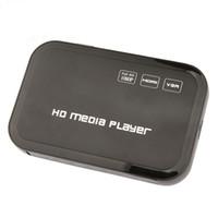 Wholesale Avi Mmc Card - Wholesale- Mini Full HD 1080P HDD Media Player HDMI VGA SD Card MMC Support DIVX AVI RMVB MP4 H.264 FLV MKV Music Movie