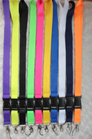 Lanyard blank lanyards - mix colour Solid Blank neck lanyard phone key chain for collection ID holders