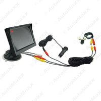 Wholesale 5inch Lcd - FEELDOE Car 5Inch Windshield Monitor Mini CCD Camera Cigarette Lighter Power RCA Video Cable Fast Quick Install #2126