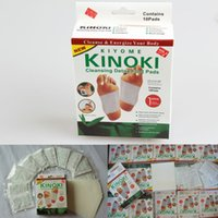 Wholesale Wholesale Detox Pads Feet - KINOKI Cleansing Detox Foot Pads Kinoki Cleanse Energize Your Body Natural Plant Quintessence Feet Care 1Lot = 1box = 10pcs pads