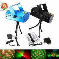 Wholesale Led Light Projectors Sale - 30PCS Lot DJ LED lights red green Laser Projector Multicolor Mini Led Stage Lights AC110-240V Disco DJ usage factory direct sale