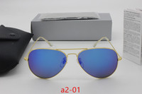 Wholesale red definition - 2017 fashion new high-quality designer sunglasses classic yurt mirror 100% aluminum frame glass lens high-definition glasses