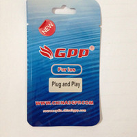 Wholesale Gpp Sim 4s - MOQ 1PCS Original New GPP Sim Unlock iPhone 4 4S iOS7 iOS8 iOS9 GSM & WCDMA 3G Plug & Play GEVEY