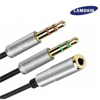 Wholesale Laptop Microphone Audio Adapter - 2 in 1 Earphone and Microphone jack to 3.5mm Audio Cable Male to Female Audio Splitter Adapter for Laptop PC